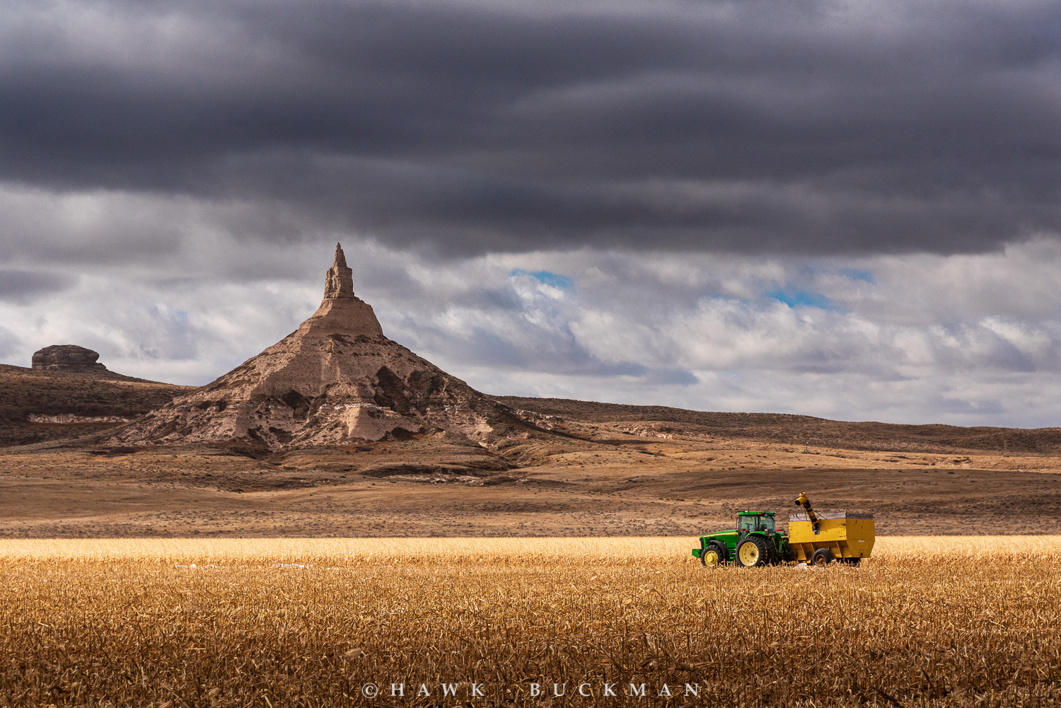 Chimney Rock and Tractor